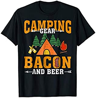 ⭐️⭐️⭐️ Camping Gear Bacon And Beer Funny Camping Tshirt Gifts Need Funny Short/Long Sleeve Shirt/Hoodie
