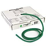 TheraBand Professional Latex Resistance Tubing For Upper Body, Lower Body, and Core Exercise, Physical Therapy, Lower Pilates, At-Home Workouts, and Rehab, 25 Foot, Green, Heavy, Intermediate Level 1
