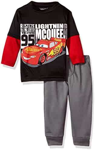 Disney Boys' Cars 2-Piece Long-Sleeve T-Shirt and Pant Set