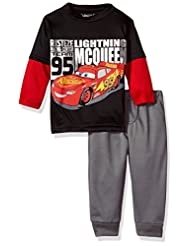 Disney Toddler Boys\' Cars 2-Piece Long-Sleeve T-Shirt and Pa...