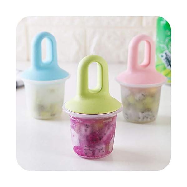 Stampi Ice Lolly Stampi per ghiacciolo e Gelato Commestibile Freddo Regalo impilabile per pappe per congelatore Pink 2 spesavip