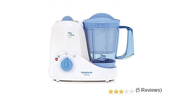 Taurus Mini Food Robot cocina, 380 W, 4 funciones, 1.2 l, Azul, Blanco: Amazon.es: Hogar