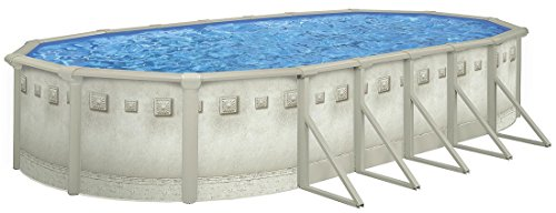 Pool Oval Swimming Ground Above - 18x33' Oval Cornelius Millenium Above Ground Pool with 52