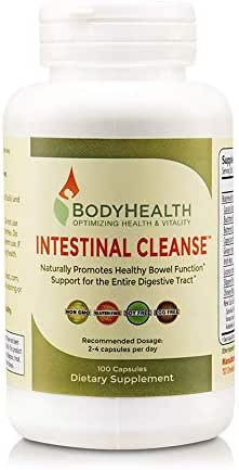 BodyHealth Intestinal Cleanse (100 Capsules), Colon Cleanser Detox, Laxative for Constipation and Gentle Bowel Elimination, Helps with Weight Loss, Liver Health & Body Detoxification