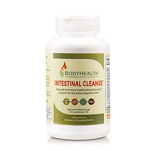BodyHealth Intestinal Cleanse (100 Capsules), Colon Cleanser Detox, Laxative For Constipation and Gentle Bowel Elimination, Helps with Weight Loss, Liver Health & Body Detoxification For Sale
