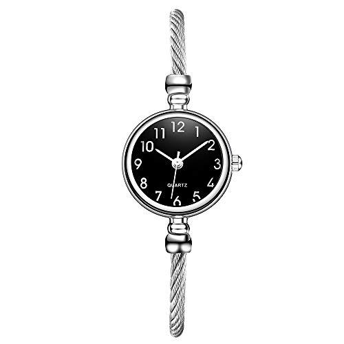 (Ballad Women's Fashion Wristwatches Casual Quartz Stainless Steel Band Bracelet Watch Analog Wrist Watches)