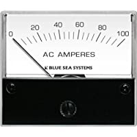 BLUE SEA SYSTEMS BS-8258 / Ammeter AC Standard 2.75 Display 0-100A w/Coil & Transformer, MFG# 8258, 2 3/4 Display Face, Meter Senses & Powers from Coil Slipped Over Wire to be Measured.