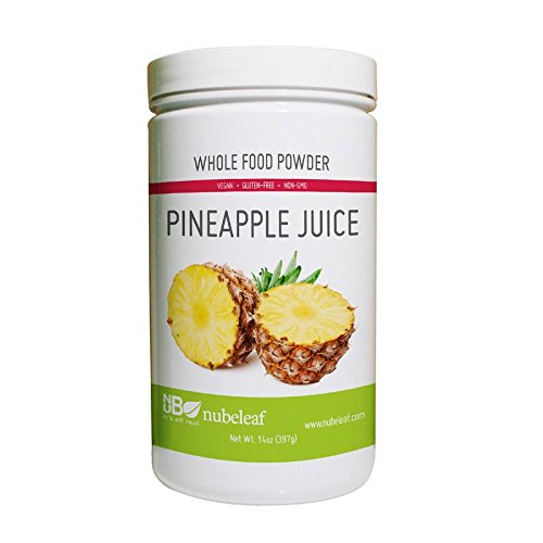 Nubeleaf Pineapple Juice Powder - Non-GMO, Gluten-Free, Raw, Vegan Source of Essential Vitamins & Minerals - Single-Ingredient Nutrient Rich Superfood for Cooking, Baking, Smoothies (14oz)