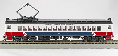 Aluminum Passenger Coach - Famous HO Septa MUmP54 Powered Coach car w/Aluminum Window Frames Southeastern Pennsylvania Transit Authority Runs on DC Out of Box, Easy Install of DCC decoder (not Included) only 4 Left