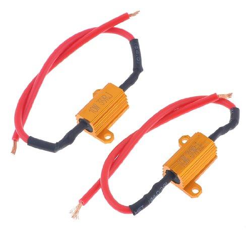 uxcell 39 Ohm 10W Watt 5% Gold Tone Aluminum Housed Resistors 2 Pcs