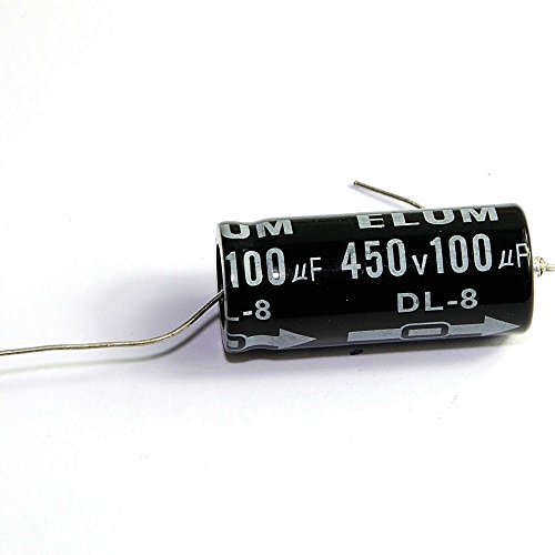 Cary 2pcs 450v 100uf 105c Long Lead Axial Electrolytic Capacitors for Tube Audio Amp