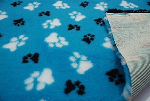 10 mtrs 1000cm x 150cm Professional NON SLIP Veterinary Dog Puppy Vet Bedding LG PAWS TURQUOISE