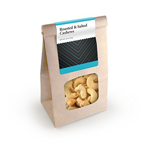 Cashews, Roasted & Salted, Kraft Window Bag 24ct/5.6oz by In-Room Plus, Inc.