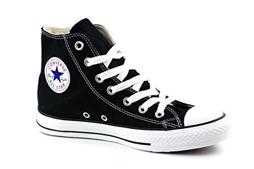 Converse Clothing & Apparel Chuck Taylor All Star Canvas High Top Sneaker,Black/White, 7 Women/5 Men