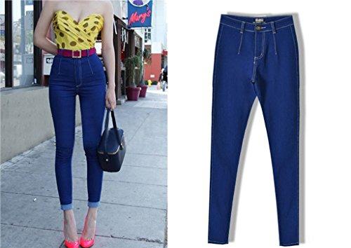 Alta Skinny Blu Aderenti Donne Homieco™ Autunno Slim Elastico Fit Primavera Pantaloni Vita Estate 6SxnU1Iwq