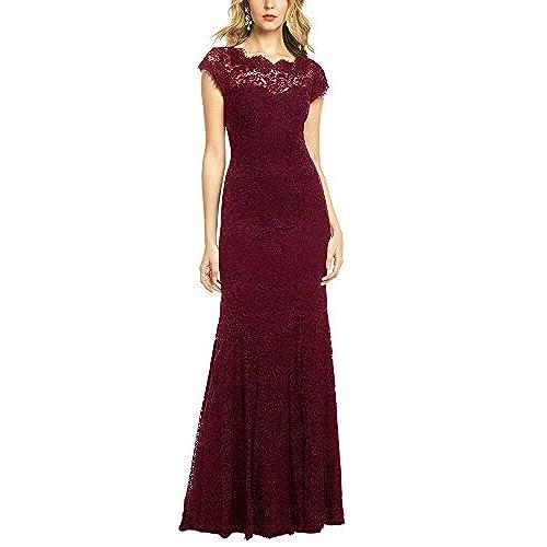 Burgundy Wedding Evening Dresses Amazon