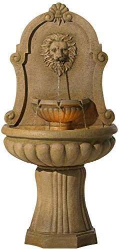 John Timberland Savanna Roman Outdoor Wall Water Fountain with Light LED 58