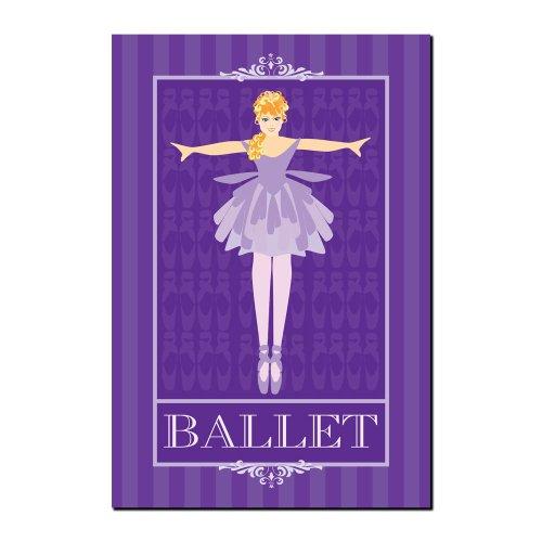 Trademark Fine Art Ballet in Blue I by Grace Riley Canvas Wall Art, 14x19-Inch