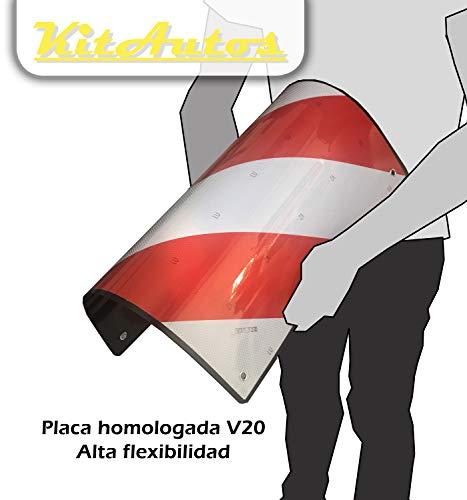 🥇 KITAUTOS PLACA V20 señal carga saliente portabicicletas ABS FLEXIBLE HOMOLOGADA 1 unidad