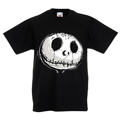 lepni.me N4434K Kids T-Shirt Scary Moon (14-15 Years Black -