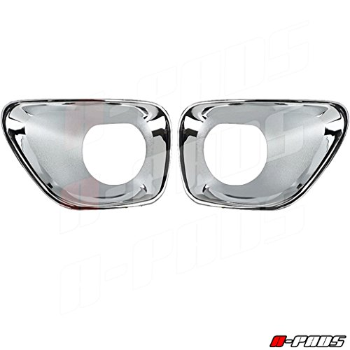 A-PADS Chrome Fog Lamp Cover for JEEP Grand Cherokee (Jeep Grand Cherokee Headlight Cover)