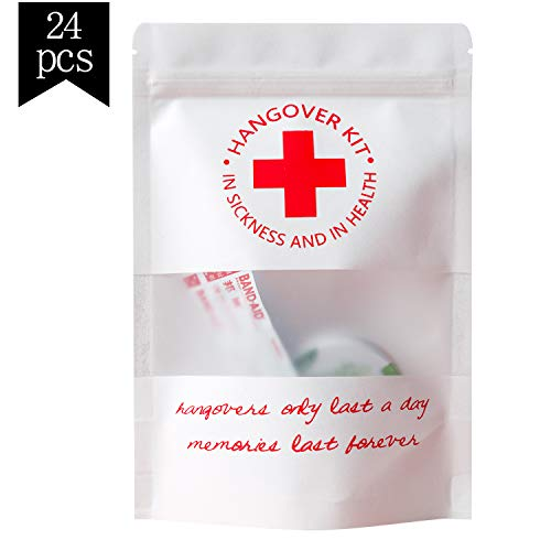 Crisky Hangover Kit Bags, Recovery Kit Bags, Bachelorette Party Decorations, Waterproof, Package of 24, 5