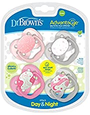 Dr. Brown's Advantage Pacifier Stage 1 4pk Pink