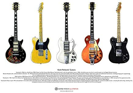George Morgan Illustration Guitarras de Keith Richards Cartel del ...