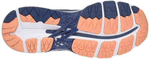 Asics Gel-Kayano 24, Zapatillas de Entrenamiento Para Mujer Multicolor (Smoke Blue/dark Blue/canteloupe)