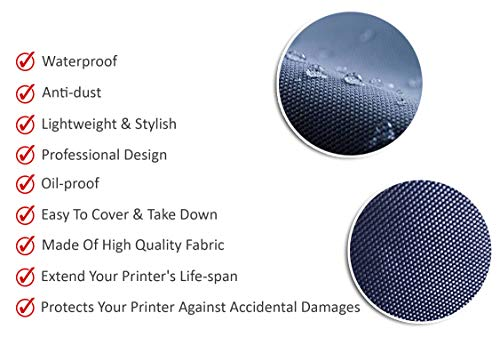 Eflyer Nylon Dust Proof Washable Printer Cover for Epson EcoTank L3150 Wi-Fi All-in-One (Blue)