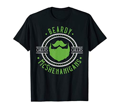 Mens Funny Beard Shirt For Men - Irish St. Patrick's Day -
