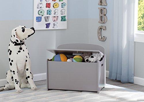 41CqgvVnwML - Delta Children MySize Deluxe Toy Box, Grey