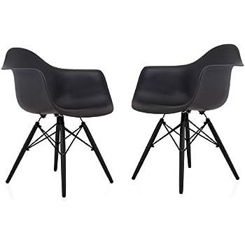 Amazon.com: CozyBlock - Juego de 2 sillones de comedor con ...