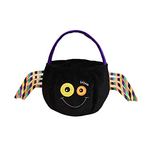 GoodLock Halloween Trick Treat Gift Candy Bags Amusing Fluffy Bags Tote Bags for Kids Festival (B)