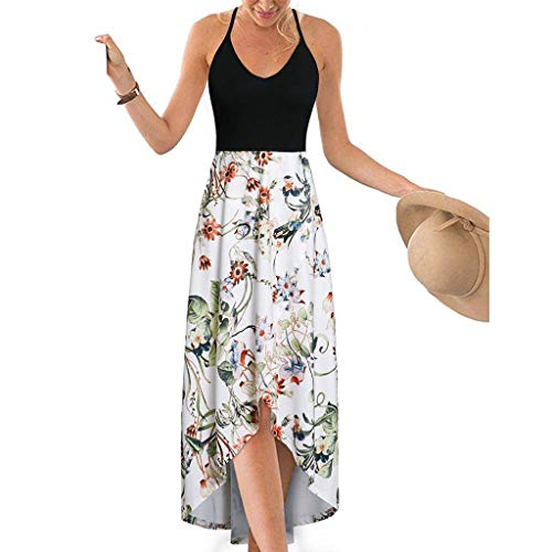 FRENDLY Women Summer Sexy Strappy Off Shoulder Backless Printing Bohe Long Dress Casual Tunic Long Maxi Dress Green