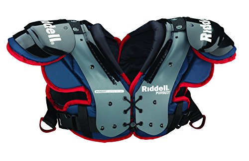 Riddell Sports 8053420 Pursuit Youth Shoulder Pad, Blue/Red, Small