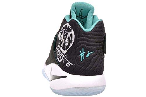Nike Grundskola Pojkar Kyrie 2 Basketskor Svart / Svart Hyper Jade-white