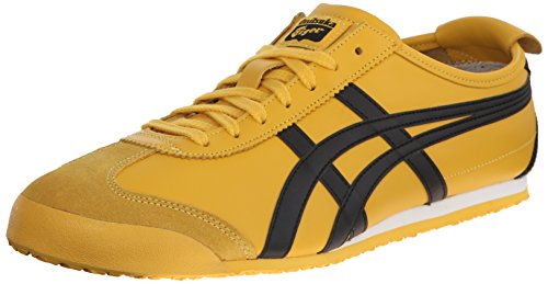 Black Yellow Sneakers (Onitsuka Tiger Mexico 66 Fashion Sneaker, Yellow/Black, 13 M Men's US/14.5 Women's M US)