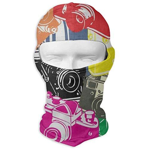 Balaclava Colorful Cartoon Camera Full Face Masks Ski Motorcycle Neck Hood