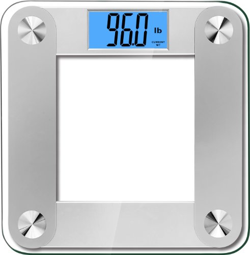 BalanceFrom High Accuracy MemoryTrack Plus Digital Bathroom Scale with'Smart Step-On' and MemoryTrack Technology, Extra Large Dual Color Backlight Display [NEWEST VERSION] (Silver)