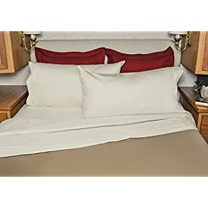AB Lifestyles Camper RV King Sheet Set 72x80 USA MADE 100% cotton, 300 thread count Color: Ivory