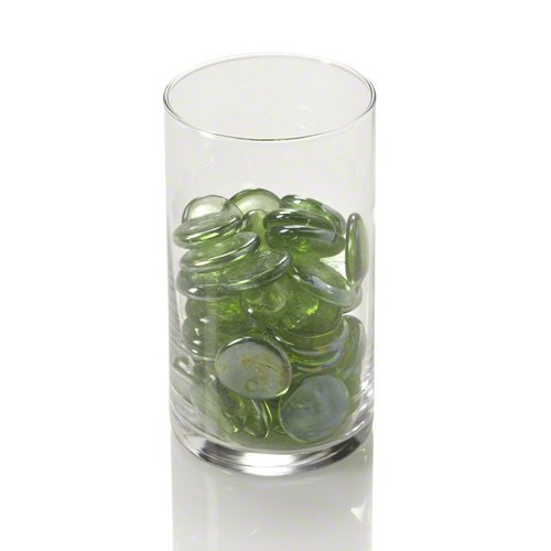 (Eastland Green Flat Gem Vase Filler Table Confetti for Weddings and More. These are Large Translucent Sparkling Gems. Each Gem measuring 25-30mm in Diameter! (Single Container))