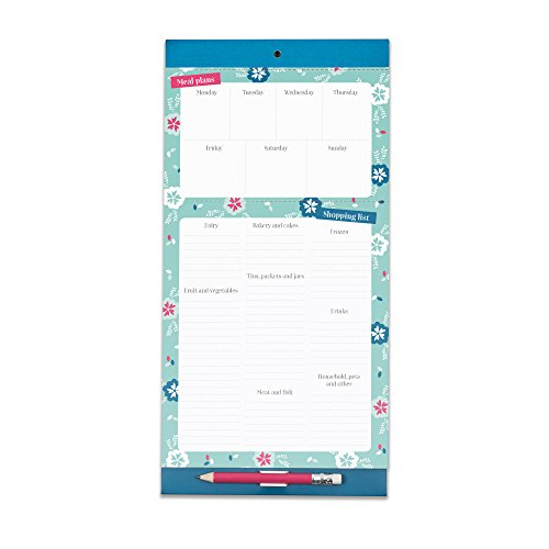 Boxclever Press Meal Planner & Magnetic Refrigerator Grocery List. Perforated shopping list pad with useful headings & weekly menu planner. Pocket for coupons & ()
