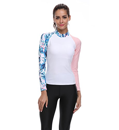 Lynddora Women's Long Sleeve Rash Guard Fashion Swimsuit Wetsuit UV Sun Protection