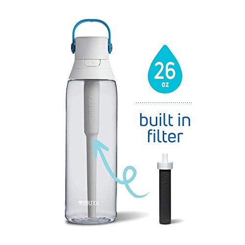 Brita 26 Ounce Premium Filtering Water Bottle with Filter BPA Free - Clear (Best Water Bottle Brand In India)