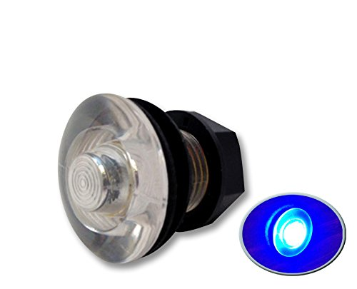 LED Live Well Round Button Courtesy Light OEM Waterproof, Blue ()