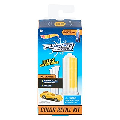Hot Wheels Fusion Factory Color Refill Kit, Yellow: Toys & Games
