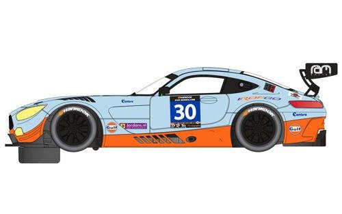 (Scalextric Mercedes AMG GT3 Gulf 1:32 Slot Race Car C3853)