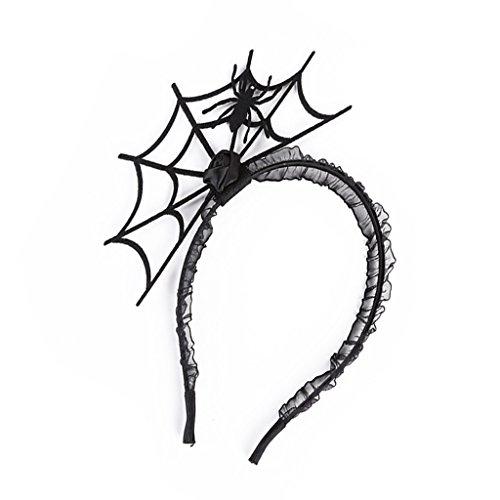 (Baosity Crown Spider Fascinator Hair Hoop Headband Headwear for Halloween Masquerade Ball Party Fancy)
