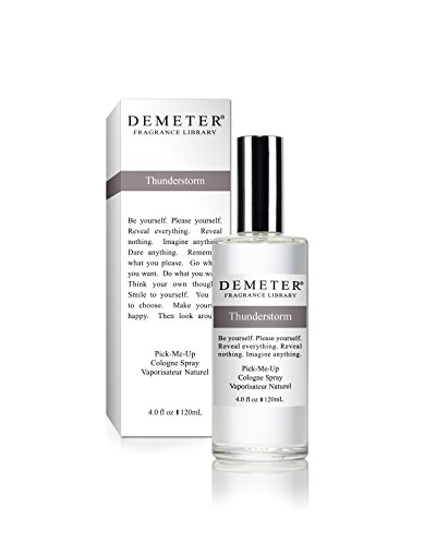 Demeter Cologne Spray for Unisex, Thunderstorm, 4 Ounce